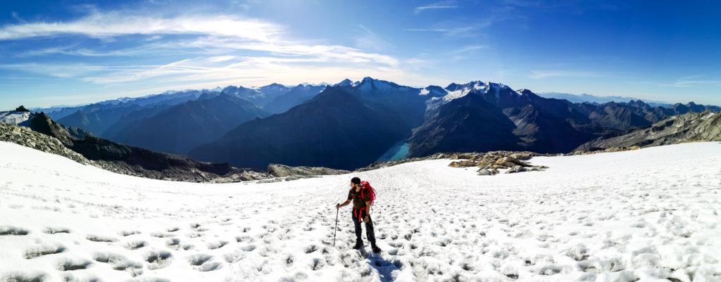 Bergsteiger am Schneegupf