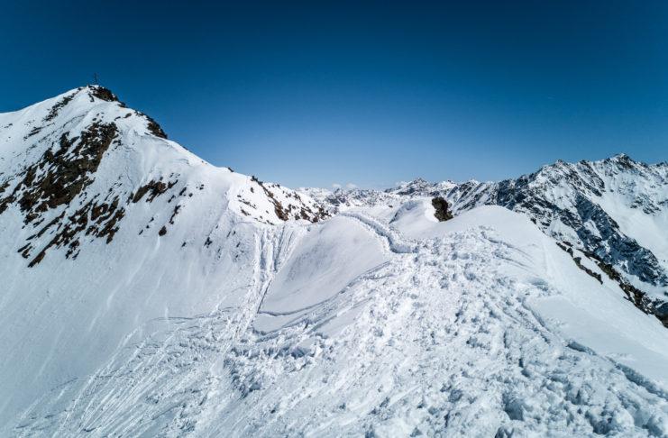 Gipfelgrat auf den Wurmtalerkopf im Winter