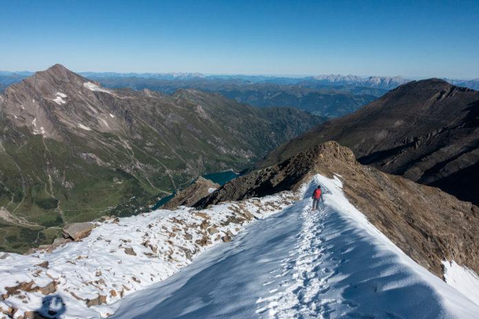 Paze beim Abstieg am Kaindlgrat