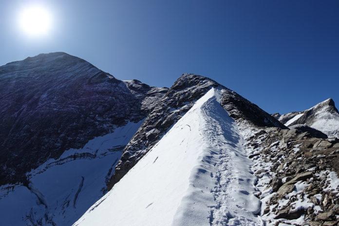 Blick zurück auf das Große Wiesbachhorn mit seinem Kaindlgrat