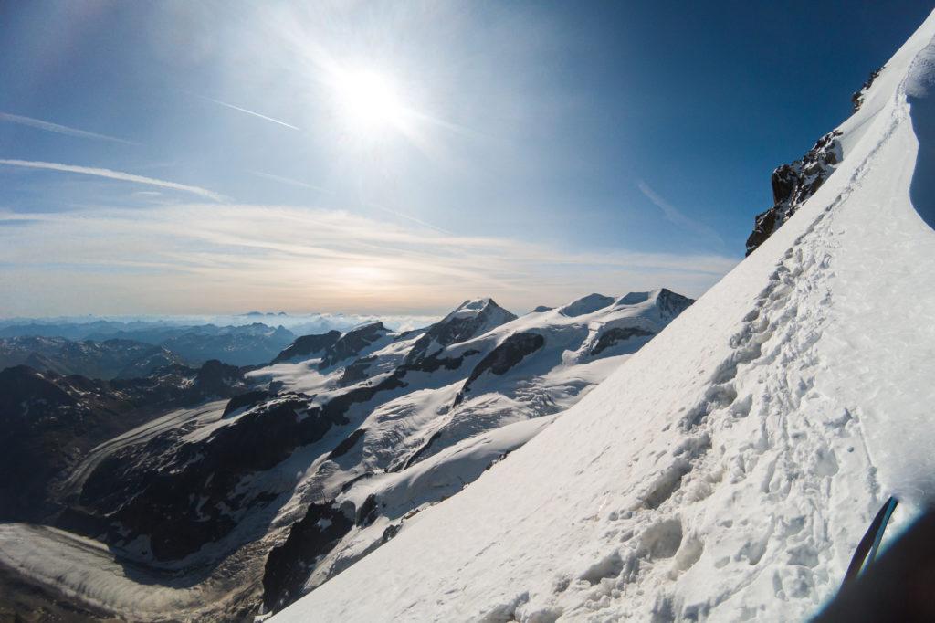 Bergsteiger am Biancograt
