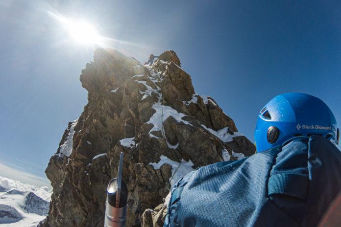 Die letzten Klettermeter auf den Gipfel