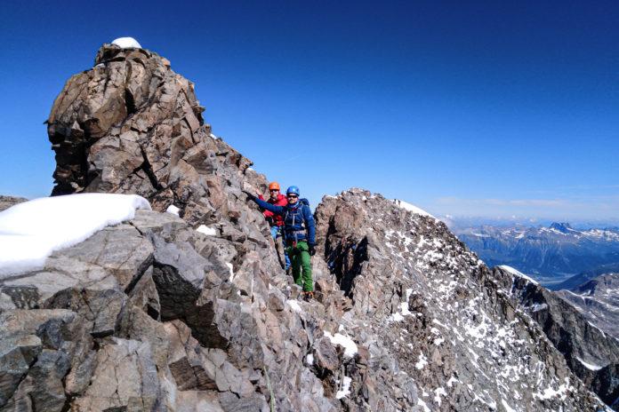 Andi und ich am Gipfelgrat