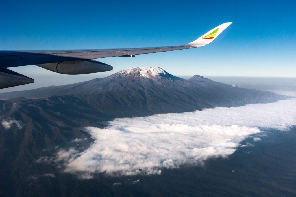 Der Kilimanjaro vom Flugzeug aus