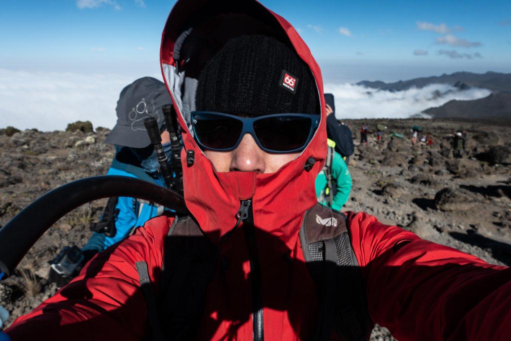 Bergsteiger am Kilimanjaro