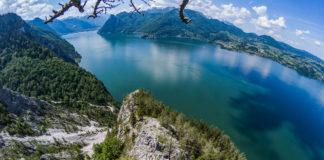 Kletterer am Südwestgrat des Traunsteins