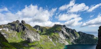 Panorama von der Bergwelt der Lofoten