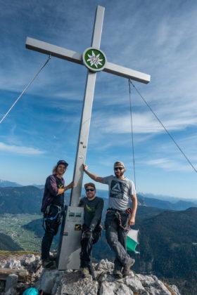 Happy am Gipfel des Großen Donnerkogels
