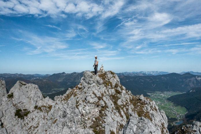 Paze am Gipfel des Strichkogels
