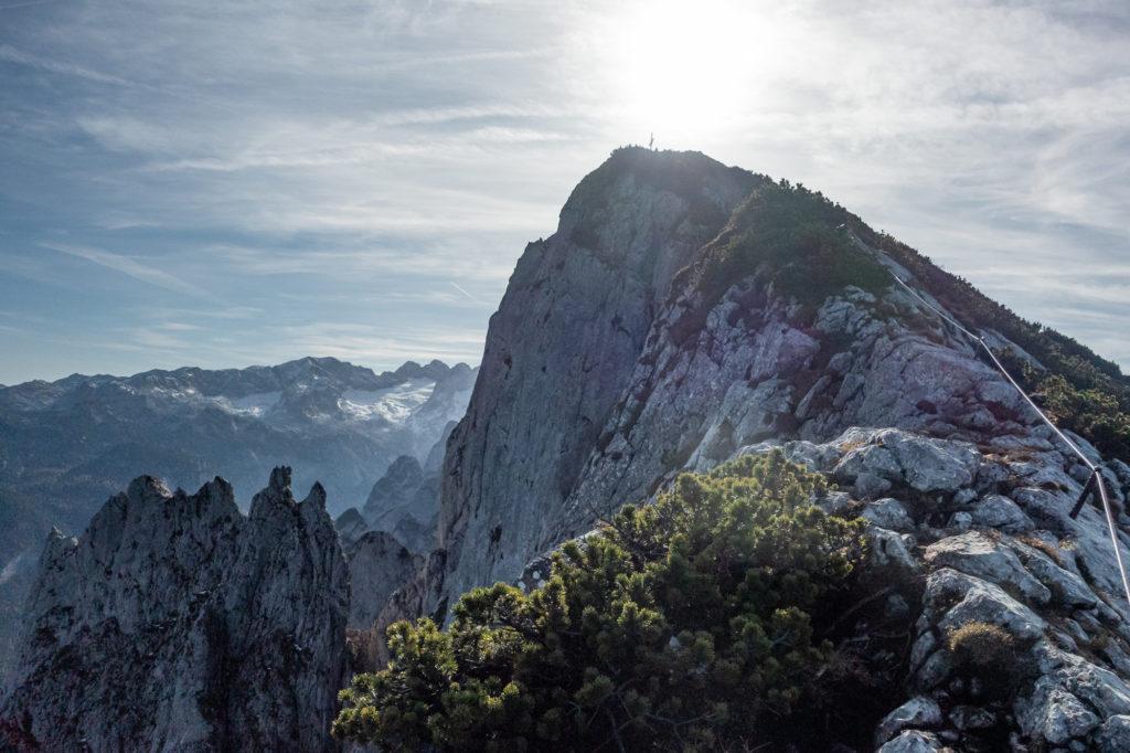 Die letzten Meter vom Donnerkogel Klettersteig