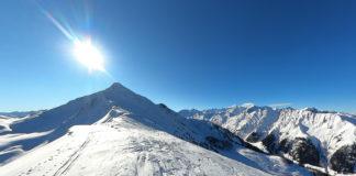 Baukogel Gipfel bei einer Skitour im Winter