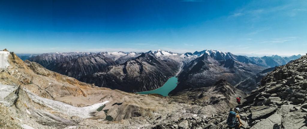 Panorama vom Gipfel des Olperers