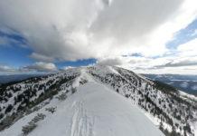 Am Gipfelgrat zum Göller im Winter