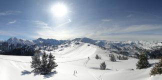Panorama vom Gipfel des Penkkopf bei einer Skitour