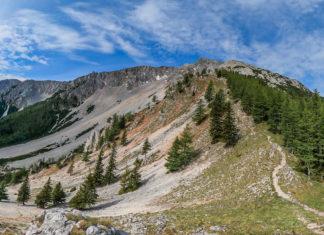 Blick auf den Nandlgrat auf den Schneeberg mit Breiter Ries