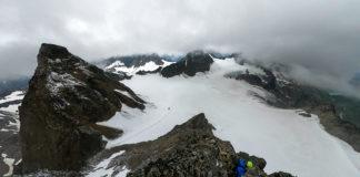 Ausblick vom Piz Buin auf den Ochsentaler Gletscher