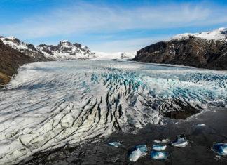 Luftaufnahme vom Skaftafell Nationalpark in Island