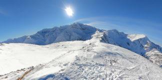 Gipfelpanorama bei einer Skitour auf die Kolmkarspitze