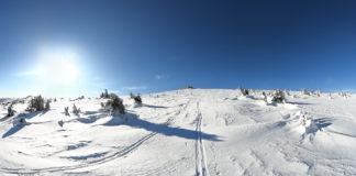 Kurz vorm Gipfel bei meiner Skitour auf den Hochwechsel