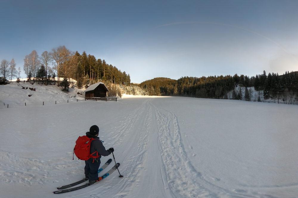 Morgenstimmung bei einer Skitour aufs Suhleck