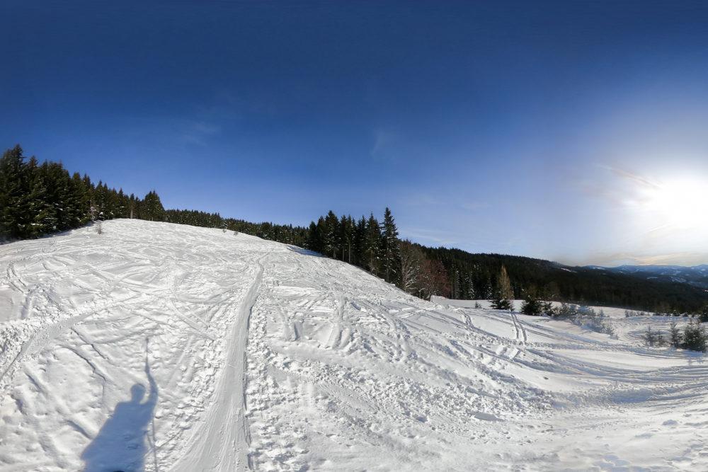 Schöne Hänge bei der Skitour aufs Stuhleck