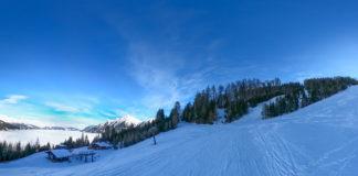 Skitour entlang der Piste auf den Graukogel