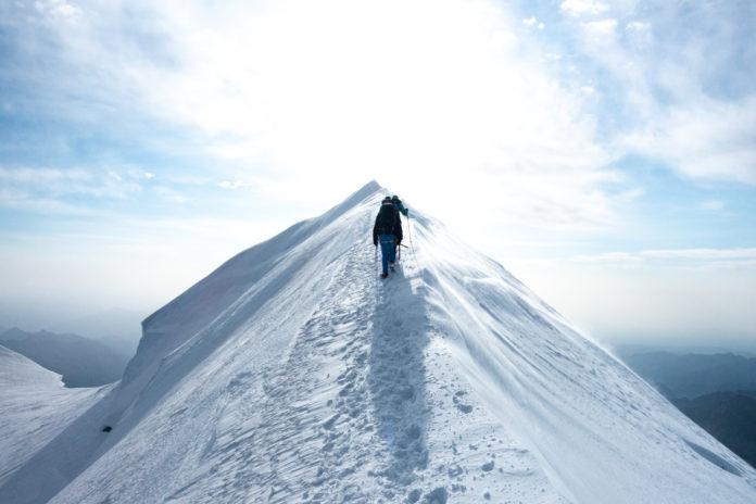 Am Gipfelgrat der Parrotspitze